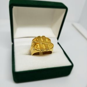 Other - Gold Plated Dollar Sign Ring